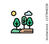 nature landscape flat icon | Shutterstock .eps vector #1157848228