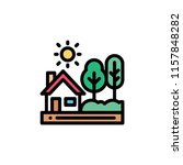 nature landscape flat icon | Shutterstock .eps vector #1157848282