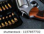revolver metal .44 .357 magnum... | Shutterstock . vector #1157857732