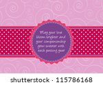 editable template for a... | Shutterstock .eps vector #115786168