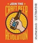 craft beer revolution vector... | Shutterstock .eps vector #1157864548