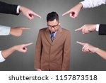 accusation guilty business... | Shutterstock . vector #1157873518