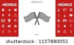 start finish cross flags icon   Shutterstock .eps vector #1157880052