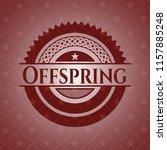 offspring vintage red emblem | Shutterstock .eps vector #1157885248
