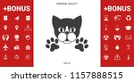 cut cat with paws   logo ... | Shutterstock .eps vector #1157888515
