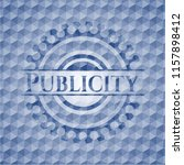 publicity blue polygonal badge. | Shutterstock .eps vector #1157898412