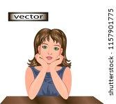 vector illustration of a girl... | Shutterstock .eps vector #1157901775