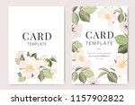 wedding invitation  floral... | Shutterstock .eps vector #1157902822
