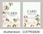 wedding invitation  floral... | Shutterstock .eps vector #1157902828