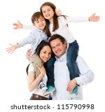 happy family celebrating with... | Shutterstock . vector #115790998
