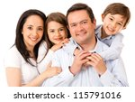 beautiful happy family  ... | Shutterstock . vector #115791016