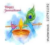 illustration of lord krishna... | Shutterstock .eps vector #1157911192