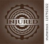 injured badge with wooden... | Shutterstock .eps vector #1157922322
