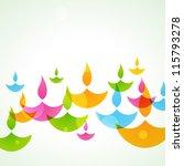 beautiful colorful stylish... | Shutterstock .eps vector #115793278