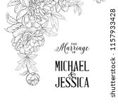 marriage invitation template.... | Shutterstock .eps vector #1157933428