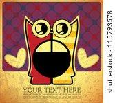 monster on retro background   Shutterstock .eps vector #115793578