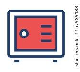locker safe money  | Shutterstock .eps vector #1157939188
