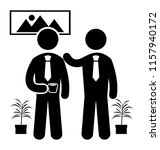 two office colleagues are... | Shutterstock .eps vector #1157940172