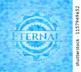 eternal sky blue mosaic emblem | Shutterstock .eps vector #1157949652
