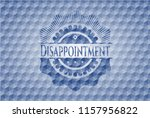 disappointment blue badge with...   Shutterstock .eps vector #1157956822
