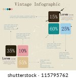 retro infographic with ink... | Shutterstock .eps vector #115795762