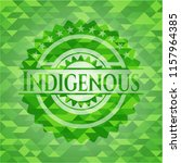 indigenous green emblem with... | Shutterstock .eps vector #1157964385