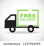free delivery car  stock... | Shutterstock . vector #1157964595