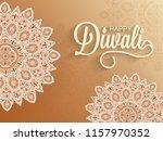sticker style mandala pattern... | Shutterstock .eps vector #1157970352