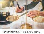 lawyer detail of a judge...   Shutterstock . vector #1157974042