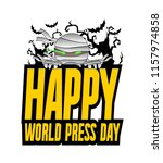 happy world press day ... | Shutterstock .eps vector #1157974858