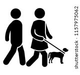 a couple is walking while... | Shutterstock .eps vector #1157975062