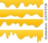 set of melting dripping honey... | Shutterstock .eps vector #1157975728