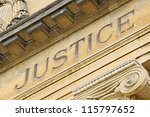 facade of french court house ... | Shutterstock . vector #115797652