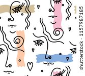 modern seamless pattern of... | Shutterstock .eps vector #1157987185