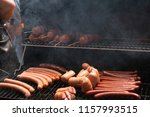delicious grilled sausages | Shutterstock . vector #1157993515
