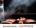 delicious grilled sausages | Shutterstock . vector #1157993518