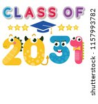 class of 2031 grow with me... | Shutterstock .eps vector #1157993782