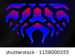 blazing fire decals for the... | Shutterstock .eps vector #1158000355