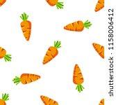 carrot cartoon vector seamless... | Shutterstock .eps vector #1158006412
