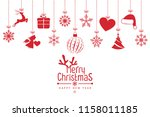 christmas background with... | Shutterstock .eps vector #1158011185