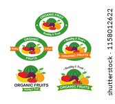 organic fresh fruits logo... | Shutterstock .eps vector #1158012622