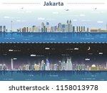 vector illustration of jakarta... | Shutterstock .eps vector #1158013978