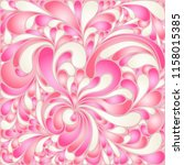 silk texture fluid shapes ... | Shutterstock .eps vector #1158015385