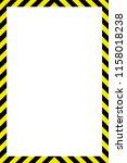 warning striped rectangular... | Shutterstock .eps vector #1158018238