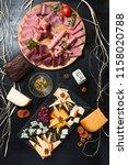 antipasti and catering platter... | Shutterstock . vector #1158020788