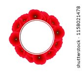 papaver rhoeas banner wreath or ... | Shutterstock .eps vector #1158021478