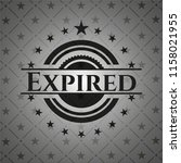 expired dark emblem. retro   Shutterstock .eps vector #1158021955