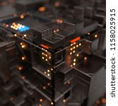 modern machine design cube the... | Shutterstock . vector #1158025915