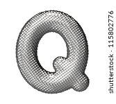 letter q from chrome squared... | Shutterstock . vector #115802776