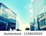 modern office building on a...   Shutterstock . vector #1158035035